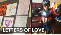 "Memes, Muslim, and 🤖: A d r loved  you and ho  you Wr ch  redid. Aidin  We lull  LETTERS OF LOVE Messages of love now bombard the seven-year-old who was beaten on the bus ""for being a Muslim."""