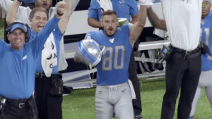 .@DannyAmendola was FIRED UP when @_bigplayslay23 sealed the win for the @Lions. 🙌 (via @NFLFilms) #NFLMicdUP https://t.co/eXPsJPOsRq: A .@DannyAmendola was FIRED UP when @_bigplayslay23 sealed the win for the @Lions. 🙌 (via @NFLFilms) #NFLMicdUP https://t.co/eXPsJPOsRq