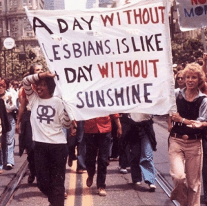 Sunshine, Day, and Without: A DAY WI THOUT M  ESBIANS,ISLIKE  DAY WITHOUT  SUNSHINE
