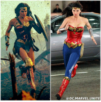 Amazon, Memes, and Budget: a DC MARVEL UNITE WONDER BATTLE ! 2017's GalGadot The Amazon Warrior Princess VS 2011's AdriannePalicki The Low Budget TV Leather and Plastic Street Woman ! 😂 WHICH WONDERWOMAN WILL WIN !? DCExtendedUniverse 💥 (The Right Picture is From the Set of The Wonder Woman TV Pilot Episode that never aired)