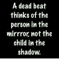 Memes, The Shadow, and 🤖: A dead beat  thinks of the  person in the  mirrror not the  child in the  shadow.