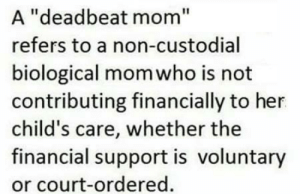 """lizz-deadbeat-fallone – lizz-deadbeat-fallone: A """"deadbeat mom""""  refers to a non-custodial  biological mom who is not  contributing financially to her  child's care, whether the  financial support is voluntary  or court-ordered. lizz-deadbeat-fallone – lizz-deadbeat-fallone"""