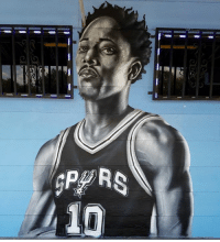 A DeMar DeRozan mural has emerged in San Antonio (painted by Nik Soupe): A DeMar DeRozan mural has emerged in San Antonio (painted by Nik Soupe)