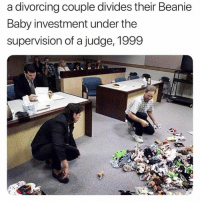 Never Forget: a divorcing couple divides their Beanie  Baby investment under the  supervision of a judge, 1999 Never Forget