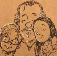 Click, Disney, and Family: A doodle a day to deal with the death of a loved one.💔✏️👨‍👧‍👦💖Gary Andrews is an animator and illustrator, who has worked on Disney and Fireman Sam cartoons. When his wife Joy suddenly died, he came to discover that drawing helped him and his family cope with their grief. He's been doodling every day since. Click the link in our bio to read his story, and see more of his drawings. family loss gonebutnotforgotten love illustration @disney doodling bbcnews