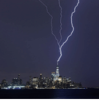 A dramatic view of the moment lightning struck One World Trade Center in New York, during an electrical storm. The building is the tallest in the United States - and the sixth tallest in the world - and replaced the Twin Towers after the terror attacks on September 11th, 2001. Click the link in our bio to see the amazing view from the observatory in the skyscraper. Photo: Gary Hershorn-Getty Images newyork manhattan lightning nature wow bbcnews: A dramatic view of the moment lightning struck One World Trade Center in New York, during an electrical storm. The building is the tallest in the United States - and the sixth tallest in the world - and replaced the Twin Towers after the terror attacks on September 11th, 2001. Click the link in our bio to see the amazing view from the observatory in the skyscraper. Photo: Gary Hershorn-Getty Images newyork manhattan lightning nature wow bbcnews