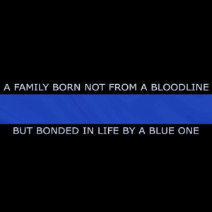 Family, Life, and Memes: A FAMILY BORN NOT FROM A BLOODLINE  BUT BONDED IN LIFE BY A BLUE ONE Blue line family strong.