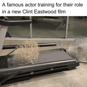 awesomesthesia:  the only actor who stayed humble: A famous actor training for their role  in a new Clint Eastwood film awesomesthesia:  the only actor who stayed humble