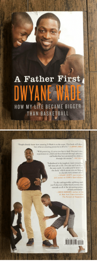 "Basketball, Blessed, and Children: A Father First  OWYANE WADE  HOW MY LIFE BECAME BIGGER  THAN BASKETBALL   ""People already know how amazing D-Wade is on the court. This book will show  fans what an amazing person he is off of it."" LeBRON JAMES  ""With parenting, it's never too late to lead. Dwyane's own  experiences as a child and those learned through adversity  and leadership have protected his children  through the storms."" PAT RILEY  ""Fatherhood is the toughest, most-rewarding  full-time job in life. Dwyane and I are from  the same mold. As a dad, you're never off  the clock, which means you are blessed  to cherish every minute of it.""  -STUART SCOTT, sportscaster  and anchor on ESPN's SportsCenter  ""In this unforgettable, uplifting read,  you'll discover a fatherhood journey that  reminds us all of the miraculous power  of faith and family.""  CHRIS GARDNER, author of the  #1 New York Times bestseller  The Pursuit of Happyness  1SBN 978-0-06-213615-2  9780062 136152 Reminder that Dwyane Wade wrote a great book about fatherhood called 'A Father First: How My Life Became Bigger Than Basketball' https://t.co/im877gUFVa"