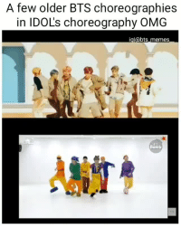 ~*i love it when they integrate former choeography's into their new choreographys *~cr: bts_memes_: A few older BTS choreographies  in IDOL's choreography OMG  igl@bts memes  Bomb ~*i love it when they integrate former choeography's into their new choreographys *~cr: bts_memes_