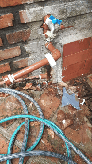 A few years ago we installed a water pump because of low pressure. Last night, some motherfucker stole the whole thing and left the pipe running, flooding my entire first floor.: A few years ago we installed a water pump because of low pressure. Last night, some motherfucker stole the whole thing and left the pipe running, flooding my entire first floor.