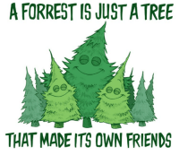 https://t.co/4YMQXCwEuX: A FORREST IS JUST A TREE  THAT MADE ITS OWN FRIENDS https://t.co/4YMQXCwEuX
