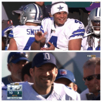 I knew fans would be attacking each other arguing who should start after Romo's TD drive...  News Flash: These men are both happy for one another, maybe some of you should take notes. You don't see them jawing at each other...  - Jeeno: A  FOX NFL  10  3  10:ll  2ND QUARTER  SM  Fox NFL I knew fans would be attacking each other arguing who should start after Romo's TD drive...  News Flash: These men are both happy for one another, maybe some of you should take notes. You don't see them jawing at each other...  - Jeeno
