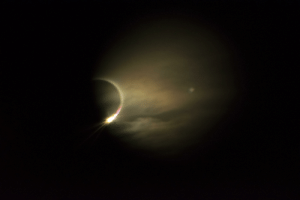 Argentina, Eclipse, and Solar Eclipse: A full solar eclipse starting to fade. (Argentina 2019)