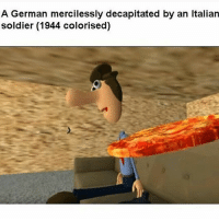 Italian Soldiers: A German mercilessly decapitated by an Italian  soldier (1944 colorised)