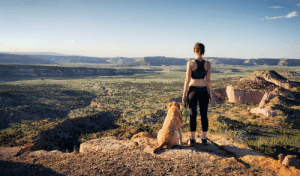 A girl and her dog - Southern Navajo Nation: A girl and her dog - Southern Navajo Nation
