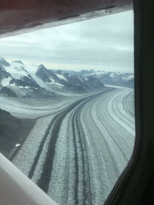 A glacial highway in Denali National Park.: A glacial highway in Denali National Park.
