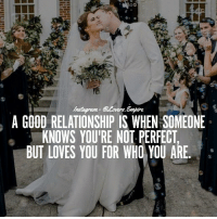 Love, Memes, and Good: A GOOD RELATIONSHIP IS WHEN SOMEONE  KNOWS YOURE NOT PERFECT  BUT LOVES YOU FOR WHO YOU ARE Tag Your Love ❤️ @couplesempire 💝