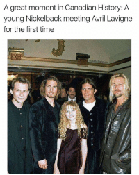👏Don't👏claim👏to👏be👏a👏sk8tr👏boy👏if👏you👏don't👏look👏at👏this👏photograph | 👉 @betasalmon for more Canada facts: A great moment in Canadian History: A  young Nickelback meeting Avril Lavigne  for the first time  BetaSalmon 👏Don't👏claim👏to👏be👏a👏sk8tr👏boy👏if👏you👏don't👏look👏at👏this👏photograph | 👉 @betasalmon for more Canada facts