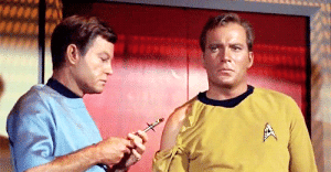 Bones, Clothes, and Gif: A greenreticule: plogeek:  theanishimori:  im-thekeeper: Dr. Leonard brutally rips clothes to give a shot McCoy There may come a day when I do not reblog this gifset…Today is not that day.   Fun fact, the original series uniforms weren't just t-shirts (despite how they might look) they were made out of velour and had zippers along the shoulders.This isn't bones ripping Kirk's shirt.This is de accidentally destroying props/wardrobe but continuing to go through the scene like it was supposed to happen.  You can see De struggling with the zipper in the first gif, and you know what, just going with it is Totally in-character for Bones. Can't get the dang shirt undone to get the patient the medicine they need. Then to HECK with the shirt. There are thousands of shirts and only one of this patient.