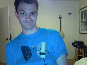 Old, She, and Shirt: A high schooler I know said she like the toasters on my shirt. Feeling old.