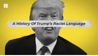 History, Racist, and Language: A History Of Trump's Racist Language