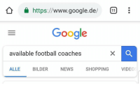 Football, Google, and Memes: a https://www.google.de/:  Google  available football coaches  ALLE BILDER NEWS SHOPPING VIDEC Florentino Perez right now