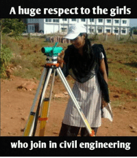 68b66a87 Girls, Memes, and Respect: A huge respect to the girls who join in civil  engineering