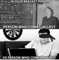 Nba, Pool, and Who: a  IN YOUR BRACKET POOL  PERSON WHO COMES,IN LAST  VS PERSON WHO COMESINFIRST Goodmorning