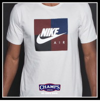 Memes, Nike, and Sports: A IR  CHAMPS  CHAMPS  SPORTS  WE KNOW GAME New colorways the Nike Block Tees just hit stores. Grab one now!