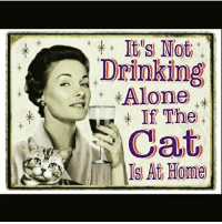😊🐱🍷 truestory wine wineo goodgirlwithbadthoughts 💅: a It s Not  Drinking  Alone  If The  Cat  S At Home 😊🐱🍷 truestory wine wineo goodgirlwithbadthoughts 💅