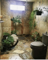 Nature, For, and Jungle: A jungle inspired bathroom for the nature lovers.