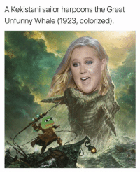 Memes, 🤖, and Whale: A Kekistani sailor harpoons the Great  Unfunny Whale (1923, colorized). Sent by Jeremiah, a patriot.