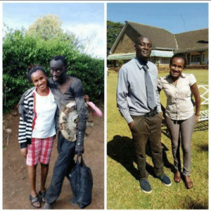 A Kenyan lady found her childhood friend on the streets struggling with drug addiction. She took him to rehabilitation and now he's a new man: A Kenyan lady found her childhood friend on the streets struggling with drug addiction. She took him to rehabilitation and now he's a new man