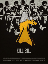The Bride prepares for a showdown in this Kill Bill Fan Poster by Gianmarco Magnani.: A  KILL BILL  VOLUME 1 The Bride prepares for a showdown in this Kill Bill Fan Poster by Gianmarco Magnani.