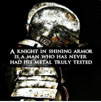 Facebook, Memes, and Cold: A KNIGHT IN SHINING ARMOR.  IS A MAN WHO HAS NEVER  HAD HIS METAL TRULY TESTED Follow Cold Dead Hands on Facebook!
