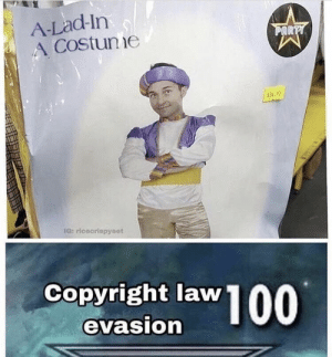 Funny, Memes, and Help: A-Lad-In  A Costune  AR  5340  Copyright law  evasion 30 Pics and Memes That You Can't Help But Laugh At - Funny Gallery