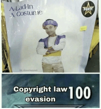 Copyright, Law, and What: A-Lad-In  A Costunie  AR  53400  G: riceorispyeot  Copyright law  evasion What a lad