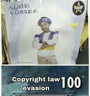 Dank, Memes, and Shit: A-Lad-In  Costune  AR  Copyright law  evasion Miss me with that © shit by godtamer MORE MEMES