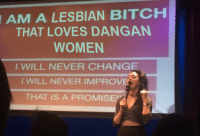 "Bitch, Shit, and Target: A LESBIAN BITCH  THAT LOVES DANGAN  AM  WOMEN  I WILL NEVER CHANGE  I WILL NEVER IMPROVE  THAT IS A PROMISE holy-shit-dangan-ronpa:""Get a personality beyond look im a lesbian"" anon inspired me"