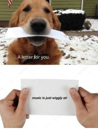 Memes, Music, and Awesome: A letter for you  music is just wiggly air awesome 26+ Memes That Are FRESHEST Among All