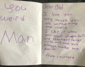 A letter from my daughter: A letter from my daughter