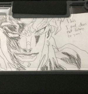 A little context: we are supposed to make something and put it on the back of our iPads at school so I made DIO: A little context: we are supposed to make something and put it on the back of our iPads at school so I made DIO