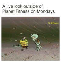 Memes, Mondays, and Pizza: A live look outside of  Planet Fitness on Mondays  IG: @thegainz Planet Fitness pizza.. is the pizza.. for you and me