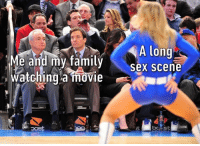 9gag, Family, and Memes: A long  Me and mv familv  sex scene  Watching a mbvie  Watchina movie Name a movie that you shouldn't watch with your family jimmyfallon awkward 9gag