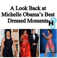 Memes, Michelle Obama, and Shade: A Look Back at  Michelle Obama's Best  Dressed Moments HU Staff: Alexyz Liggins @alexyzjoi On her very last day in the White House, former First Lady Michelle Obama killed it in a beautiful dress from designer Jason Wu. Ads by Kiosked __________________________________________________________ While everyone else who attended the inauguration wore shades of blue and white, Mrs.Obama looked stunning in a red dress and slayed, per usual. ____________________________________________________ The tea-length tweed dress was trimmed in black, and paired with a skinny black belt at the waist. Her accessories included diamond earrings and black pumps... ____________________________________________________ Read more at thehollywoodunlocked.com