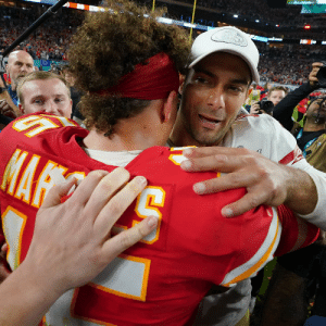 A lot to look forward to for these two.  @PatrickMahomes   @JimmyG_10   #SBLIV https://t.co/w80U0pcK2T: A lot to look forward to for these two.  @PatrickMahomes   @JimmyG_10   #SBLIV https://t.co/w80U0pcK2T
