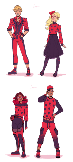 lunian:  My galaxy brain told me to draw just some fans, wearing the best from their Ladybug inspired stuff  probably the most of it was made by MarinetteYeah, I just love drawing outfits.. huh.: A lunian:  My galaxy brain told me to draw just some fans, wearing the best from their Ladybug inspired stuff  probably the most of it was made by MarinetteYeah, I just love drawing outfits.. huh.