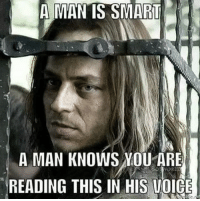 A MAN IS SMART  A MAN KNOWS NOU ARE  READING THIS IN HIS VOICE Its true 😲😲😲 Who else did read it in his voice 😰 got hbo gameofthrones gameofthronesfamily jaqenhghar jaqen mind