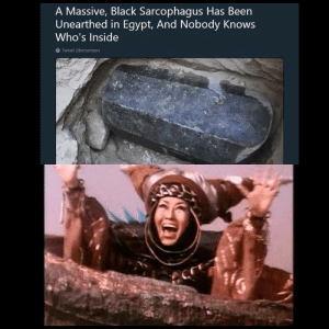 Ahh! After 10,000 years I'm free!: A Massive, Black Sarcophagus Has Been  Unearthed in Egypt, And Nobody Knows  Who's Inside  Tweet übersetzen Ahh! After 10,000 years I'm free!